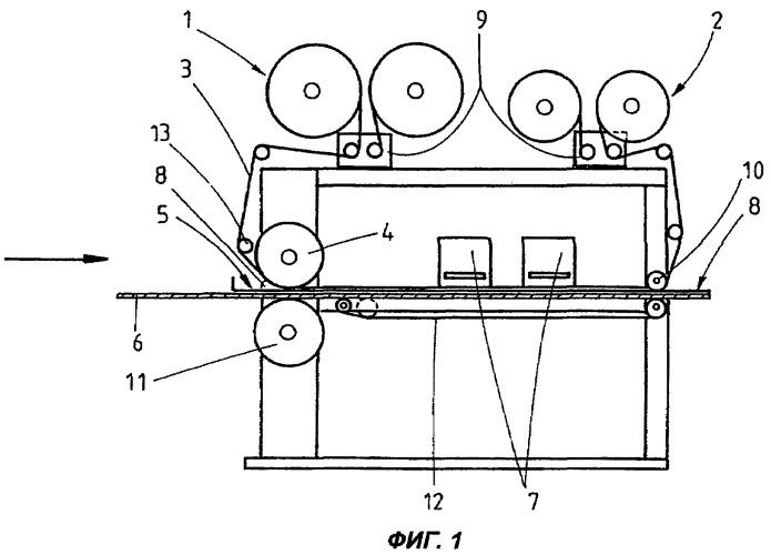 Способ для нанесения покрытия, содержащего текучий покрывающий материал