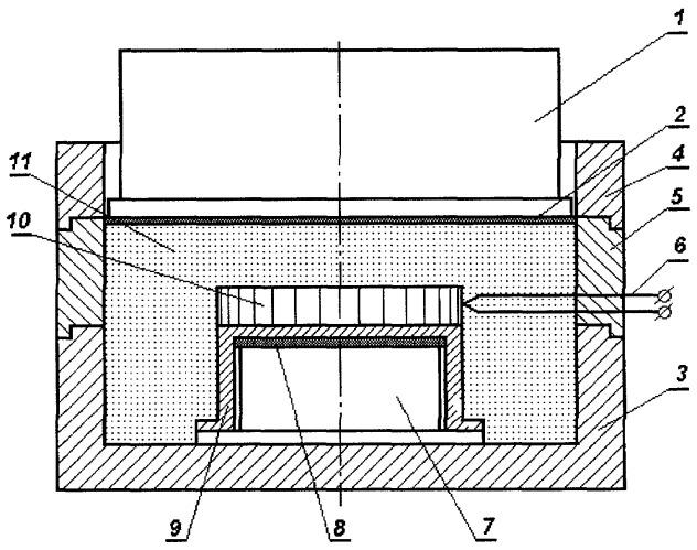Устройство для получения двухслойных катодов электродугового испарителя реакционным спеканием под давлением