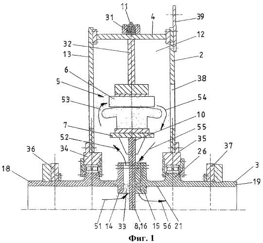 Подъемная шахтная машина с ведущим шкивом трения с улучшенным подводом охлаждающего воздуха