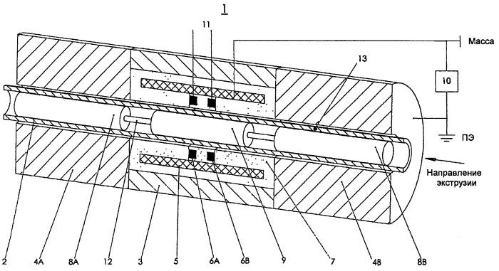 Способ и устройство для емкостного обнаружения дефектов в полимерных трубах