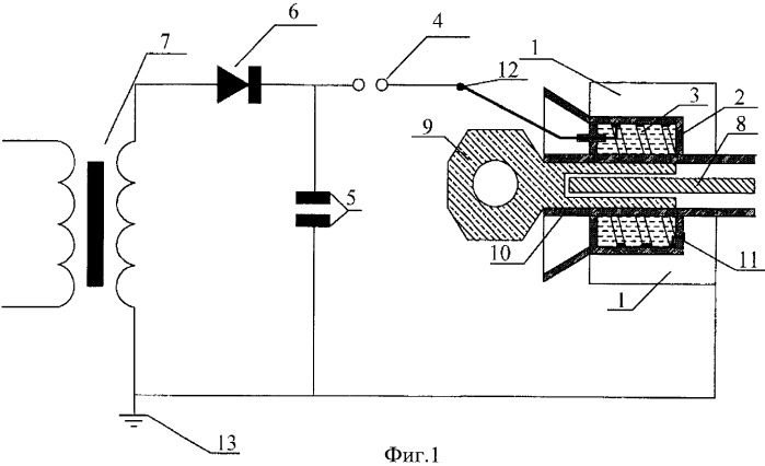 Электровзрывной способ концевой заделки кабеля и устройство для его осуществления
