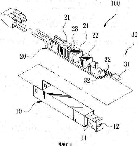 Защитное устройство, имеющее наружную оболочку с двойной сигнализацией