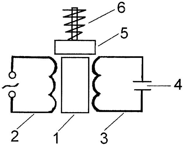 Вибрационный двигатель переменного тока