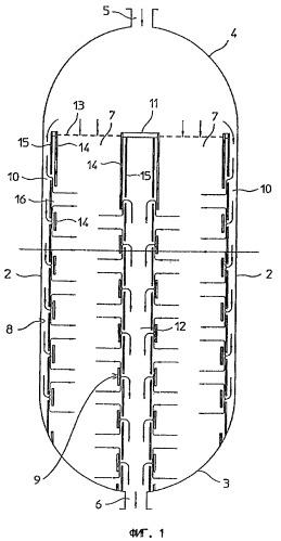 Система стенок для слоев катализатора в реакторах синтеза