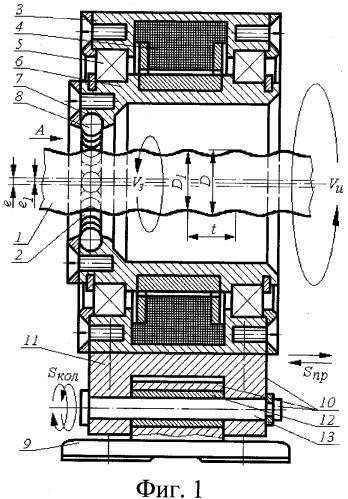 Электроголовка для упрочнения винтовых и сложнопрофильных поверхностей