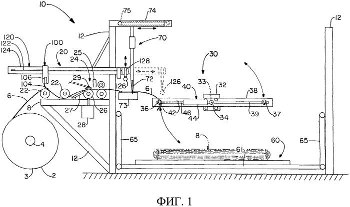 Устройство для сворачивания бумаги, предназначенное для изготовления изделий