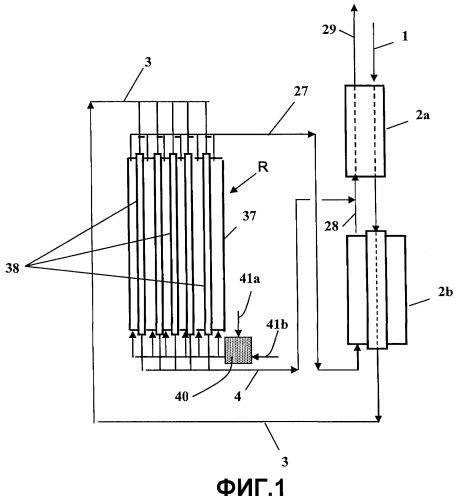 Способ получения синтез-газа путем конверсии с водяным паром в реакторе-теплообменнике