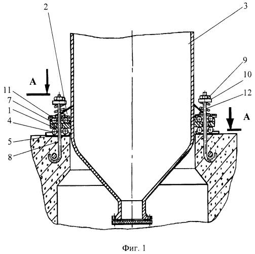 Опора для крепления вертикальных аппаратов
