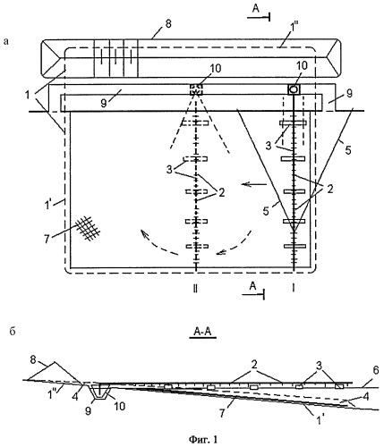 Способ строительства песчаного пляжа и устройство для его осуществления
