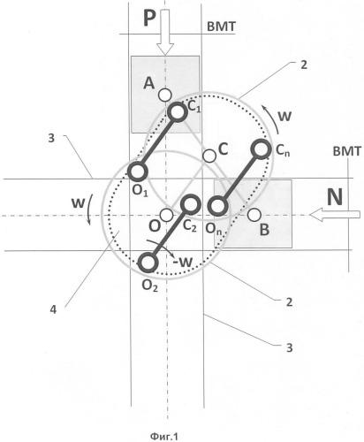 Бесшатунный механизм преобразования движения