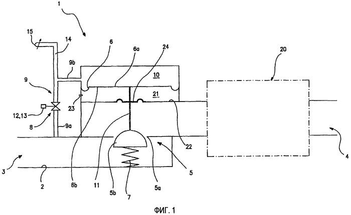 Устройство для управления подачей горючего газа в горелку