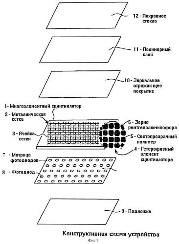 Многоэлементный детектор рентгеновского излучения, редкоземельный рентгенолюминофор для него, способ формирования многоэлементного сцинтиллятора и детектора в целом