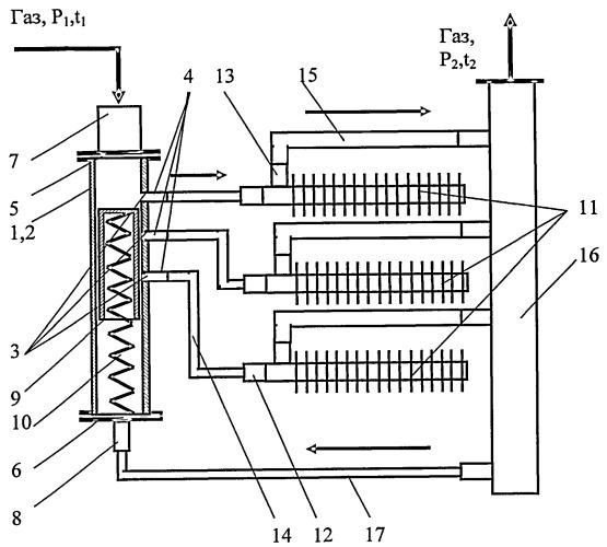Мультипозиционный вихревой регулятор давления газа