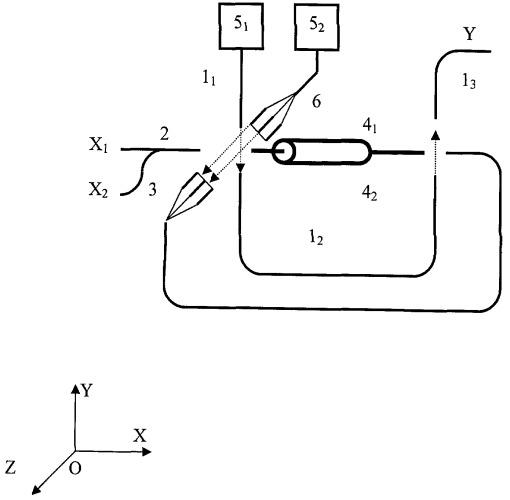 Оптический наносумматор по модулю два