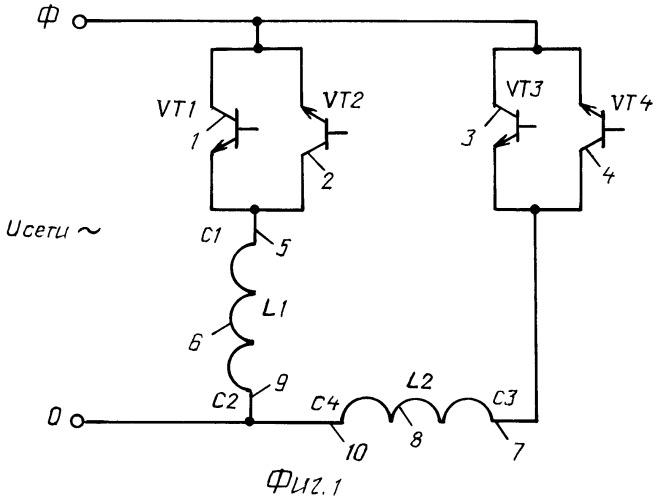 Полупроводниковое устройство регулирования скорости однофазного двухобмоточного асинхронного двигателя