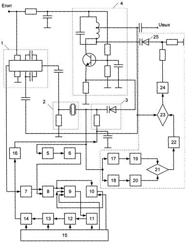 Малошумящий термокомпенсированный кварцевый генератор ударного возбуждения