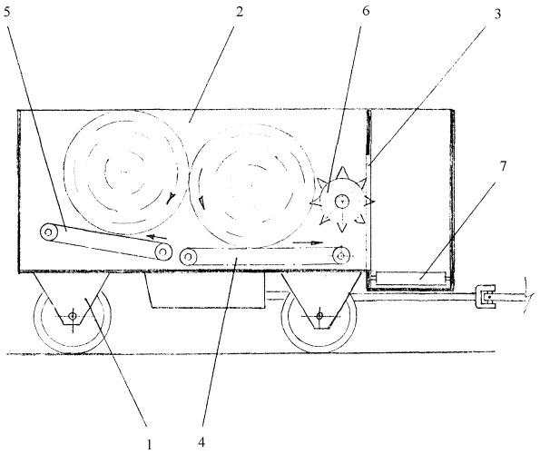 Раздатчик корма, сформированного в рулоны