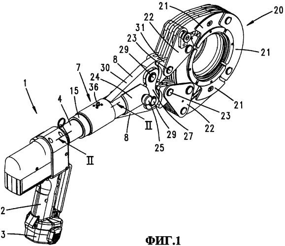 Гидравлическое опрессовочное устройство, а также способ опрессовки фитинга