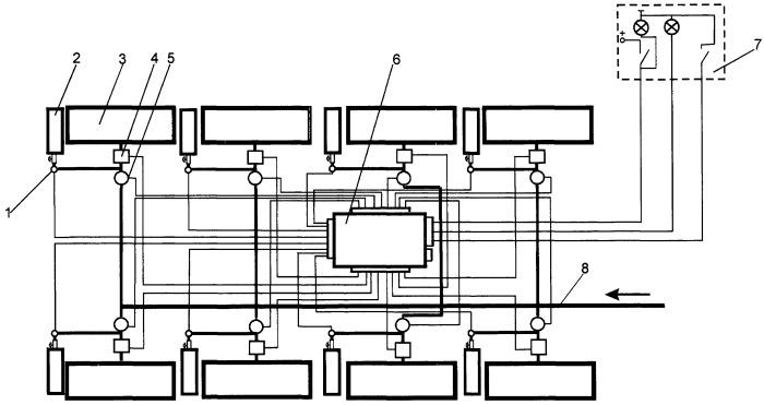 Система автоматического поддержания давления воздуха в бескамерных пневматических шинах