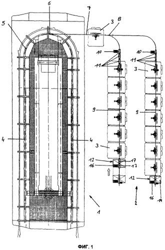 Устройство для накопления транспортных средств подвесной канатной дороги в накопительной зоне