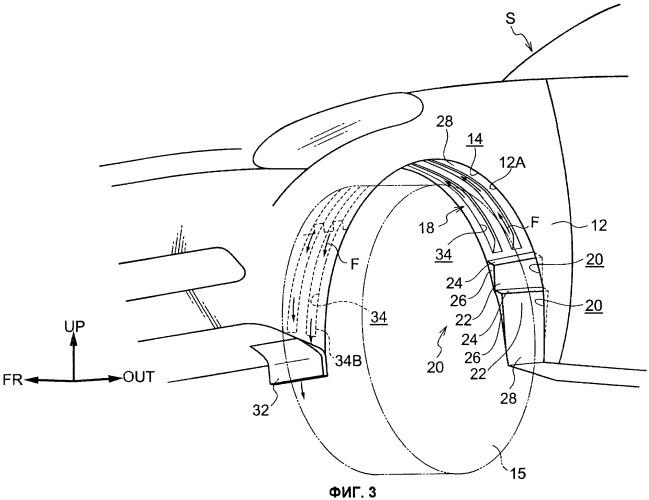 Аэродинамическая конструкция для транспортного средства