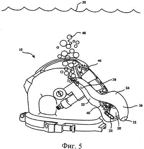 Устройство для отклонения пузырьков воздуха, используемое с водолазным снаряжением
