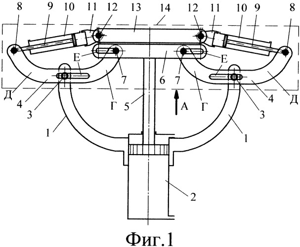 Устройство для автоматического захвата, раскрытия и удержания мешков