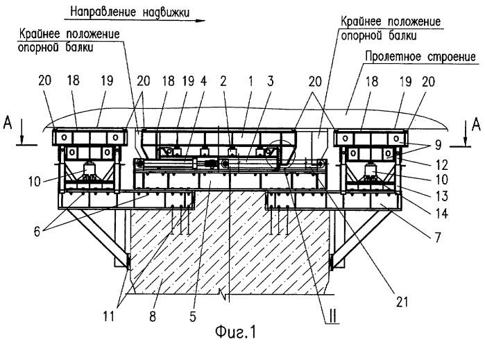 Толкающее устройство для надвижки пролетных строений мостов