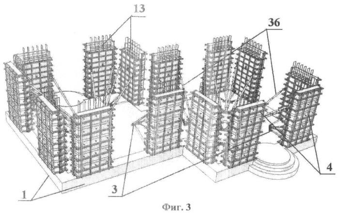 Способ возведения монолитно-каркасного здания с декоративной наружной отделкой