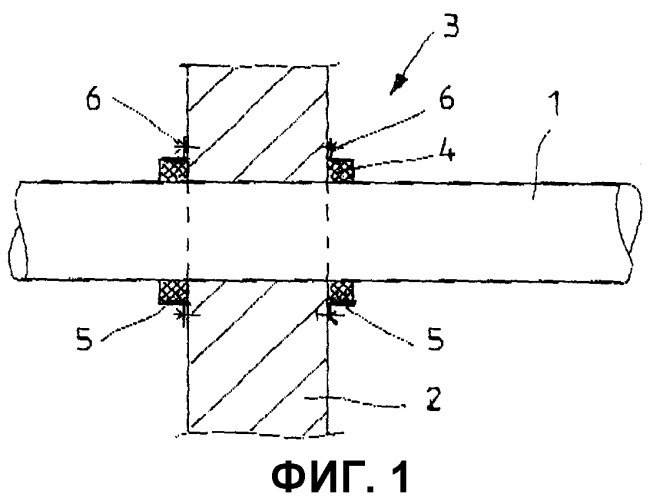 Стеновой или потолочный ввод и пожарозащитная лента для пластиковой трубы