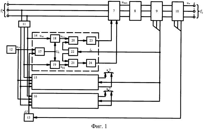 Непосредственный трехфазный преобразователь частоты с естественной коммутацией