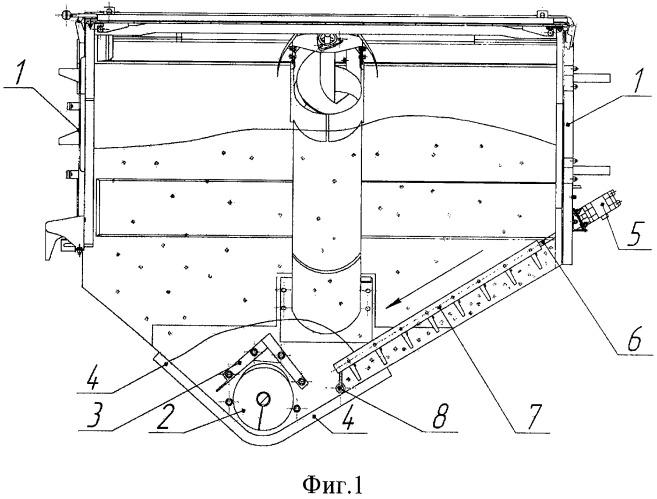 Устройство для разрушения сводообразования малосыпучего зернового вороха бункера зерноуборочного комбайна