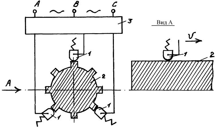 Способ трехроликовой электромеханической обработки деталей машин