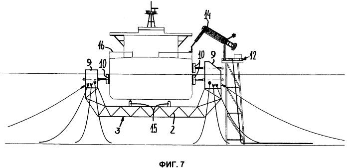Система для швартовки судна в море