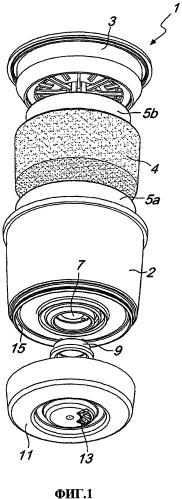 Капсула для экстракции напитка из порошкообразного вещества и пенообразующая перегородка для использования в капсуле