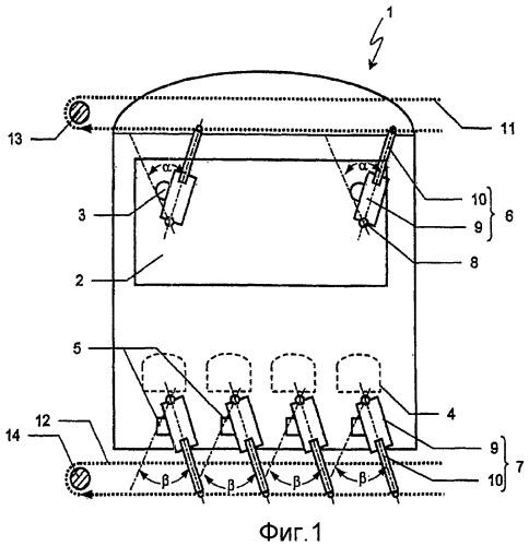 Система подачи воздуха для коксовой печи с центральным управлением для первого и второго потоков воздуха