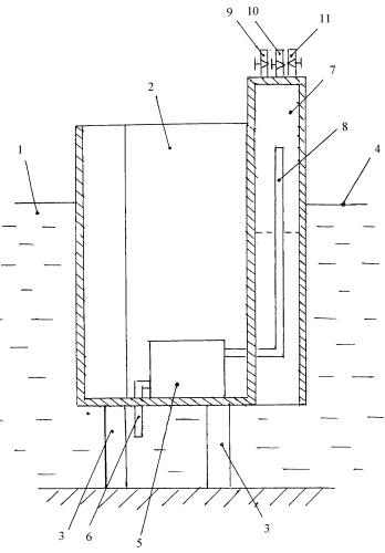Установка для получения сжатого газа с использованием электролиза воды