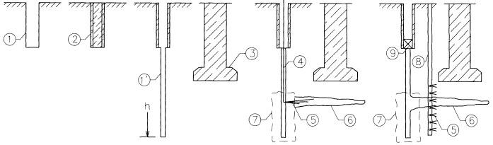 Способ поддержания начального напряженно-деформированного состояния грунта в зоне фундамента существующего здания