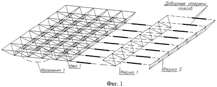 Стальная решетчатая конструкция покрытия