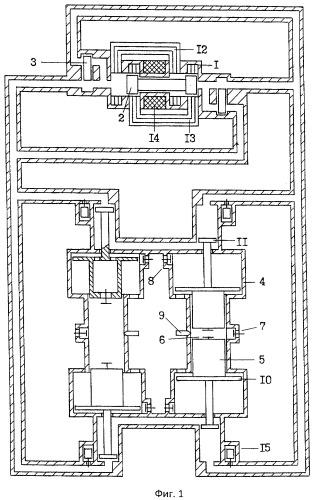 Синхронизатор движения якорь-поршней в противофазе свободнопоршневого насос-генератора
