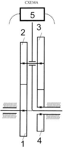 """Жёсткая бесступенчатая коробка передач на основе цилиндрического дифференциального механизма (механизм отбора скорости с """"ловушкой"""" силового потока мощности)"""