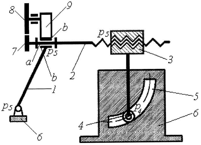 Пространственный кривошипно-шатунный механизм второго семейства