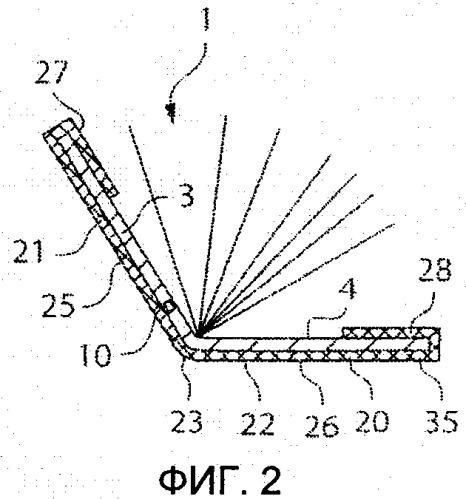 Защитная конструкция для изделия, в частности документа