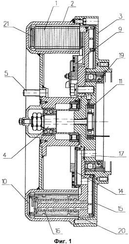 Электромеханический преобразователь с жидкостным охлаждением