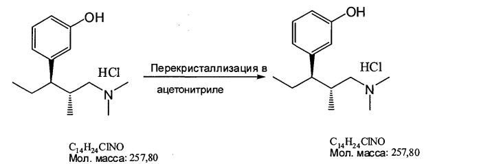 Кристаллические модификации гидрохлорида (-)-(1r,2r)-3-(3-диметиламино-1-этил-2-метилпропил)фенола