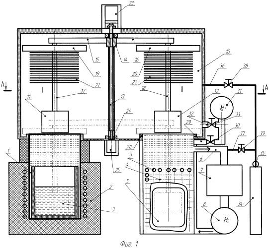 Устройство для диффузионной металлизации в среде легкоплавких жидкометаллических растворов