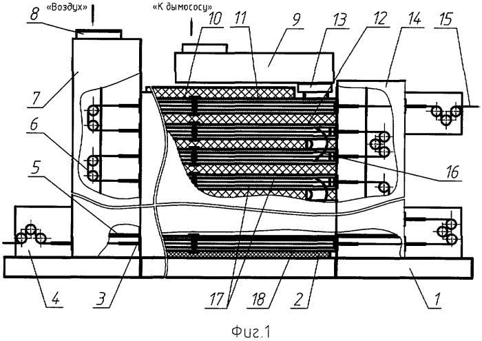 Камера для непрерывной температурной обработки длинномерного волокнистого материала