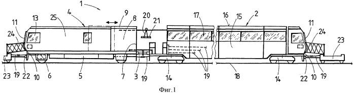 Путеукладочный поезд для технического обслуживания рельсового пути