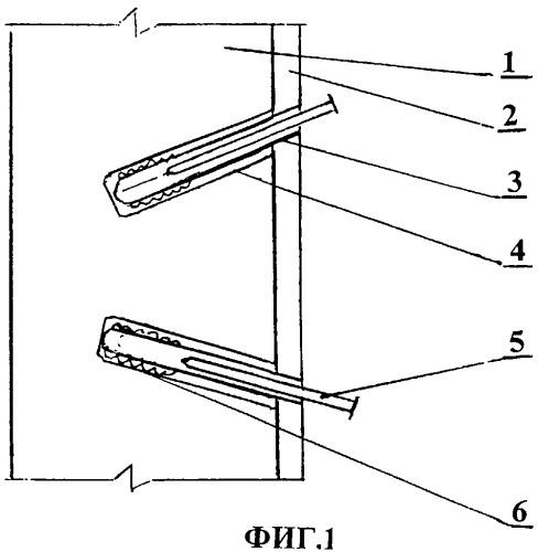 Способ крепления навесных конструкций к вертикальной стене