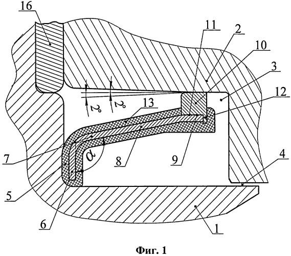 Буровое шарошечное долото с герметизированной опорой